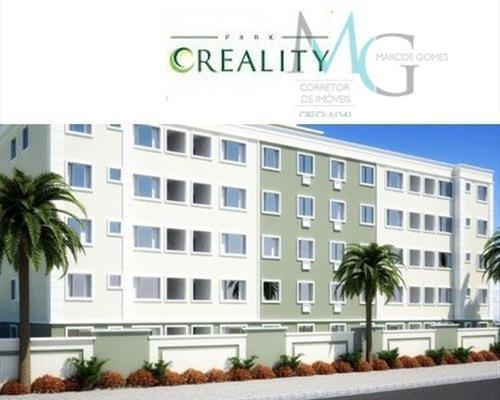 apartamento com 2 dormitórios à venda, 50 m² por r$ 135.000,00 - campo grande - rio de janeiro/rj - ap0021
