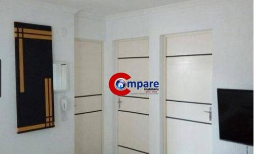 apartamento com 2 dormitórios à venda, 50 m² por r$ 180.000 - vila rio de janeiro - guarulhos/sp - ap7329