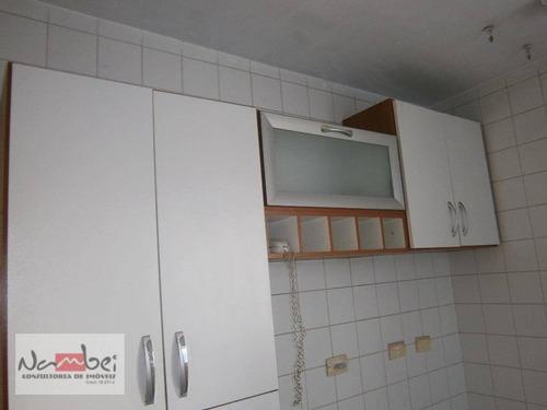 apartamento com 2 dormitórios à venda, 50 m² por r$ 199.000 - vila carmosina - são paulo/sp - ap0206