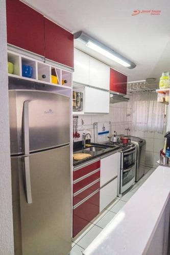 apartamento com 2 dormitórios à venda, 50 m² por r$ 211.000 - santa quitéria - curitiba/pr - ap1336
