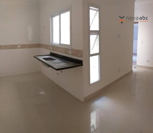apartamento com 2 dormitórios à venda, 50 m² por r$ 245.000 - jardim utinga - santo andré/sp - ap0792