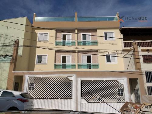 apartamento com 2 dormitórios à venda, 50 m² por r$ 245.000 - jardim utinga - santo andré/sp - ap0793