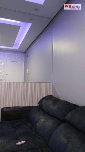 apartamento com 2 dormitórios à venda, 50 m² por r$ 265.000 - paulicéia - são bernardo do campo/sp - ap2813