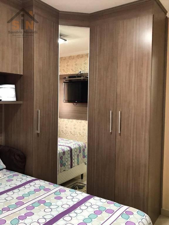 apartamento com 2 dormitórios à venda, 51 m² por r$ 220.000 - jardim santo antônio - são paulo/sp - ap0148
