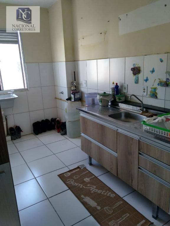 apartamento com 2 dormitórios à venda, 52 m² por r$ 128.000 - jardim alzira franco - santo andré/sp - ap9639