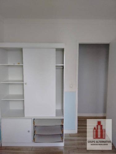 apartamento com 2 dormitórios à venda, 52 m² por r$ 303.000 - tauba - são paulo/sp - ap1048