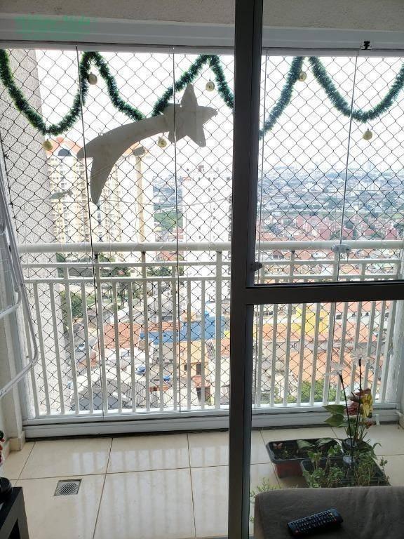 apartamento com 2 dormitórios à venda, 52 m² por r$ 312.000 - ponte grande - guarulhos/sp - ap2668