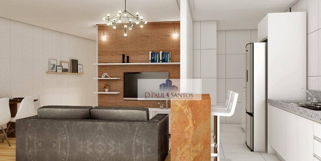 apartamento com 2 dormitórios à venda, 53 m² por r$ 269.990,00 - tatuapé - são paulo/sp - ap0062