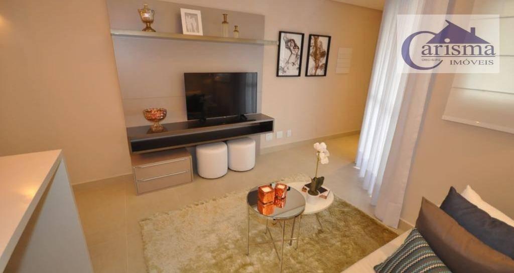 apartamento com 2 dormitórios à venda, 53 m² por r$ 345.000 - jardim - santo andré/sp - ap3104