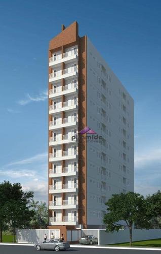 apartamento com 2 dormitórios à venda, 54 m² por r$ 190.000 - jardim satélite - são josé dos campos/sp - ap10639