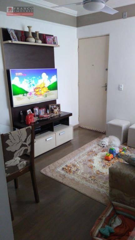apartamento com 2 dormitórios à venda, 54 m² por r$ 190.000 - parque das colinas - valinhos/sp - ap0399