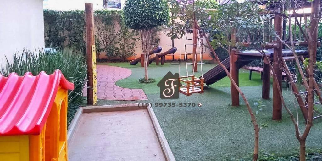 apartamento com 2 dormitórios à venda, 54 m² por r$ 340.000,00 - vila industrial - campinas/sp - ap1568