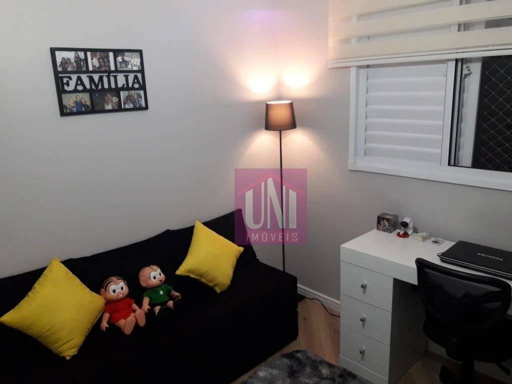 apartamento com 2 dormitórios à venda, 54 m² por r$ 345.000 - parque viana - barueri/sp - ap1745