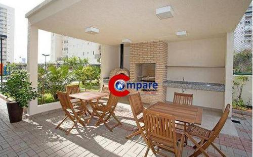 apartamento com 2 dormitórios à venda, 55 m²- macedo - guarulhos/sp - ap7139