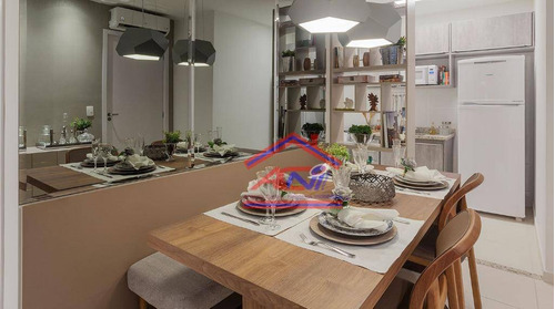 apartamento com 2 dormitórios à venda, 55 m² por r$ 212.000 - portal antúrios do campo - hortolândia/sp - ap0043