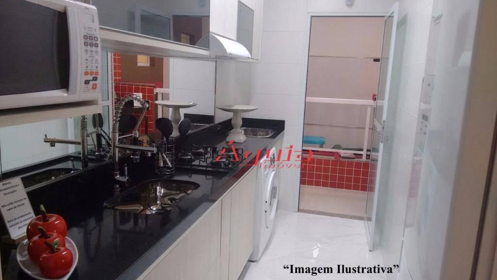 apartamento com 2 dormitórios à venda, 55 m² por r$ 299.000 - vila curuçá - santo andré/sp - ap1119