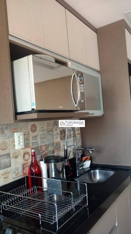 apartamento com 2 dormitórios à venda, 55 m² por r$ 330.000 - macedo - guarulhos/sp - ap2639