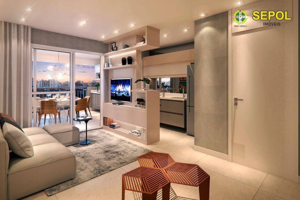 apartamento com 2 dormitórios à venda, 55 m² por r$ 382.250,00 - tatuapé - são paulo/sp - ap0452
