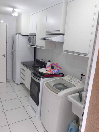 apartamento com 2 dormitórios à venda, 56 m² - condomínio vila felice - hortolândia/sp - ap0061