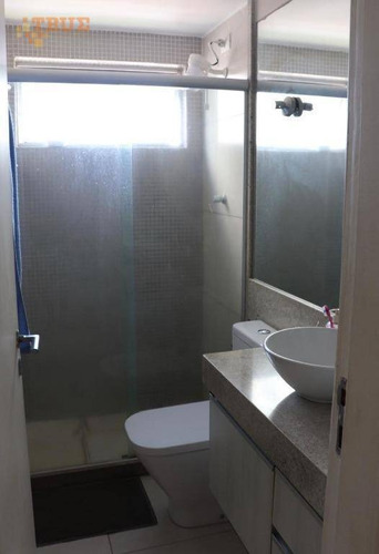 apartamento com 2 dormitórios à venda, 56 m² por r$ 330.000 - torre - recife/pe - ap3357