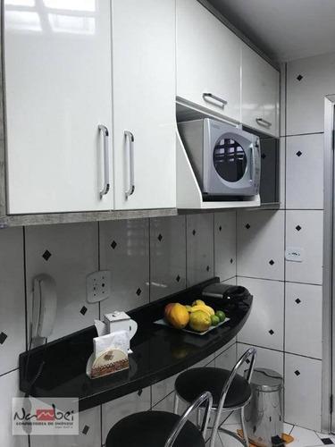 apartamento com 2 dormitórios à venda, 56 m² por r$ 380.000 - penha - são paulo/sp - ap0522