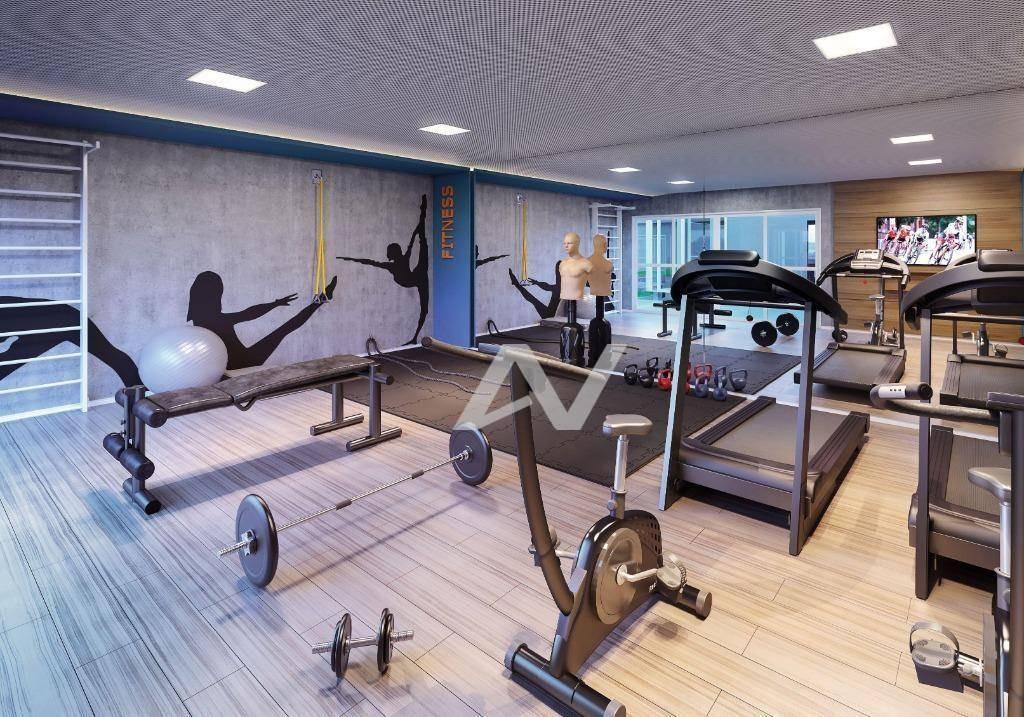 apartamento com 2 dormitórios à venda, 56 m² por r$ 383.651 - taquaral - campinas/sp - ap0700