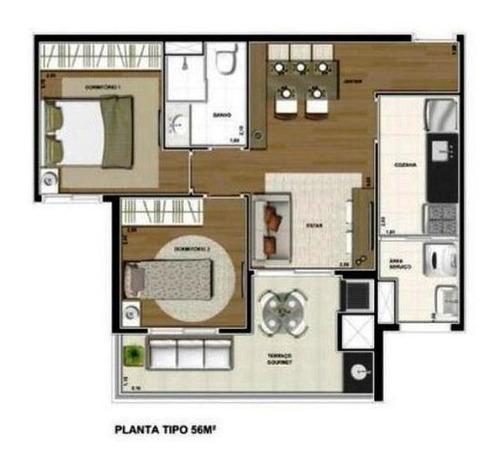 apartamento com 2 dormitórios à venda, 56 m² por r$ 395.000 - vila formosa - são paulo/sp - ap4789
