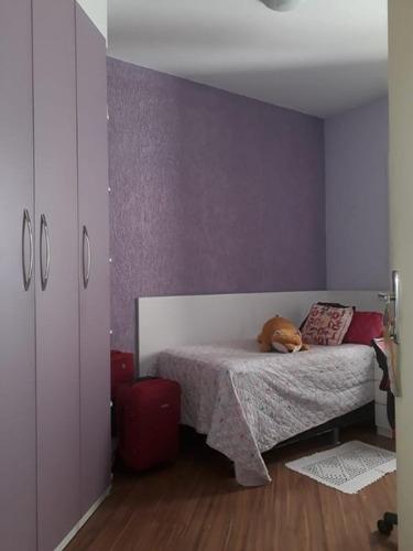 apartamento com 2 dormitórios à venda, 57 m² por r$ 270.000 - jardim henriqueta - taboão da serra/sp - ap0744