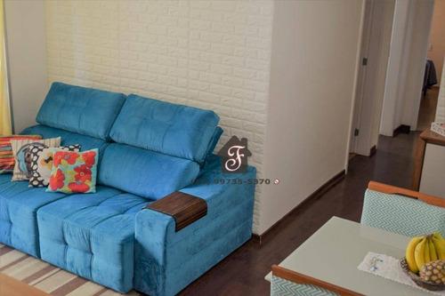 apartamento com 2 dormitórios à venda, 57 m² por r$ 490.000 - ap1196