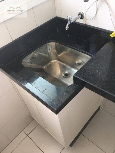 apartamento com 2 dormitórios à venda, 58 m² por r$ 330.000 - gopoúva - guarulhos/sp - ap0657