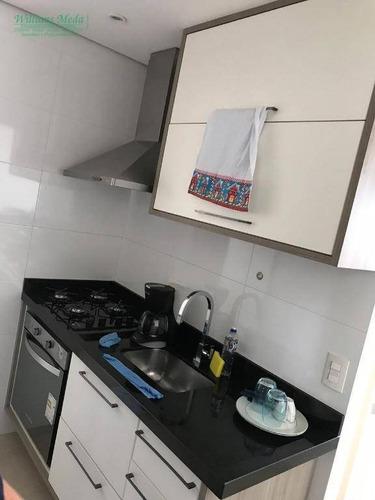 apartamento com 2 dormitórios à venda, 58 m² por r$ 330.000 - macedo - guarulhos/sp - ap2367