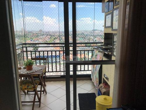 apartamento com 2 dormitórios à venda, 58 m² por r$ 380.000 - rudge ramos - são bernardo do campo/sp - ap1199