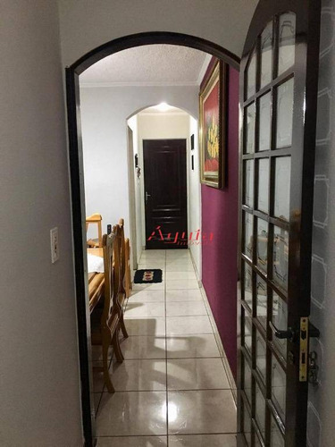 apartamento com 2 dormitórios à venda, 60 m² por r$ 230.000 - jardim alzira franco - santo andré/sp - ap1724