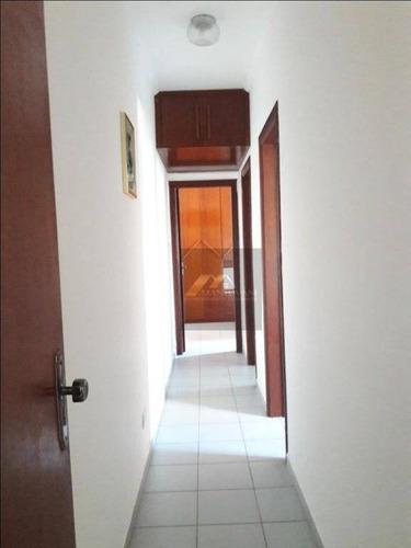 apartamento com 2 dormitórios à venda, 60 m² por r$ 255.000 , mobiliado- canto do forte - praia grande/sp - ap1555
