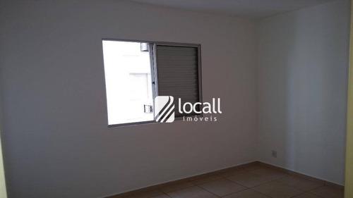 apartamento com 2 dormitórios à venda, 60 m² por r$ 280.000 - higienópolis - são josé do rio preto/sp - ap1564