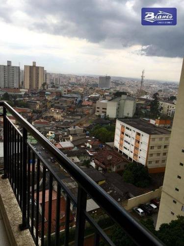 apartamento com 2 dormitórios à venda, 60 m² por r$ 330.000 - picanco - guarulhos/sp - ap3366