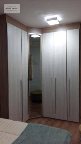 apartamento com 2 dormitórios à venda, 60 m² por r$ 330.000 - vila galvão - guarulhos/sp - ap1011