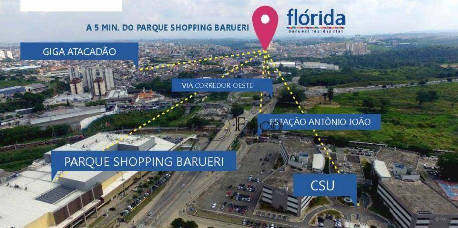 apartamento com 2 dormitórios à venda, 60 m² por r$ 334.466 - parque viana - barueri/sp - ap0858