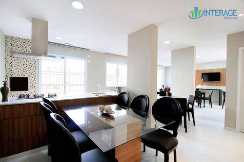 apartamento com 2 dormitórios à venda, 61 m² por r$ 310.000 - santa quitéria - curitiba/pr - ap0196