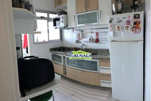 apartamento com 2 dormitórios à venda, 62 m² por r$ 330.000 - vila augusta - guarulhos/sp - ap0632