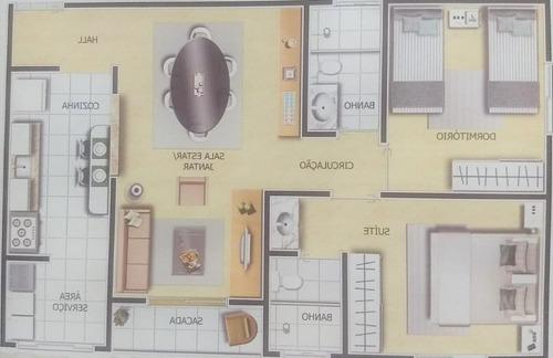 apartamento com 2 dormitórios à venda, 63 m² por r$ 395.000 - mansões santo antônio - campinas/sp - ap5466