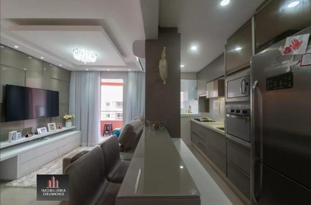 apartamento com 2 dormitórios à venda, 64 m² | barreiros - são josé/sc - ap6117