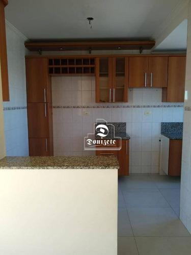 apartamento com 2 dormitórios à venda, 64 m² por r$ 280.000 - jardim santo antônio - santo andré/sp - ap11510