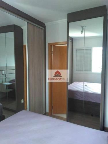 apartamento com 2 dormitórios à venda, 64 m² por r$ 300.000,00 - jardim satélite - são josé dos campos/sp - ap2174