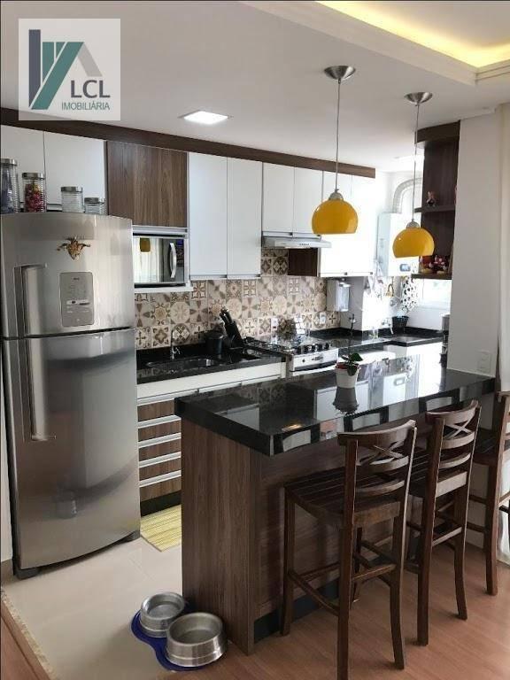 apartamento com 2 dormitórios à venda, 65 m² por r$ 219.000,00 - jardim petrópolis - cotia/sp - ap0083