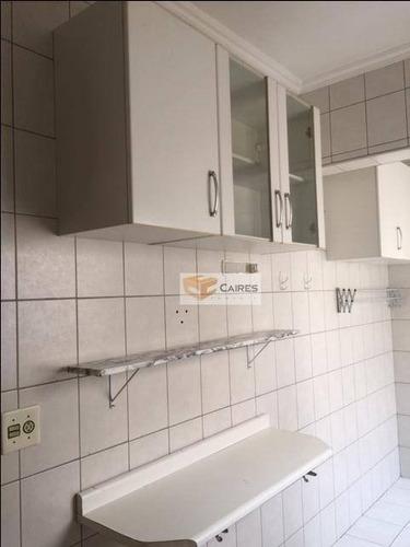 apartamento com 2 dormitórios à venda, 65 m² por r$ 220.000 - jardim do lago continuação - campinas/sp - ap5453