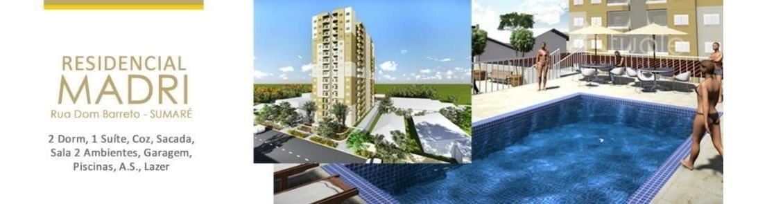apartamento com 2 dormitórios à venda, 65 m² por r$ 373.000 - centro - sumaré/sp - ap6855
