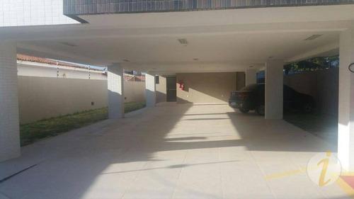 apartamento com 2 dormitórios à venda, 67 m² por r$ 190.000 - poço - cabedelo/pb - ap5556