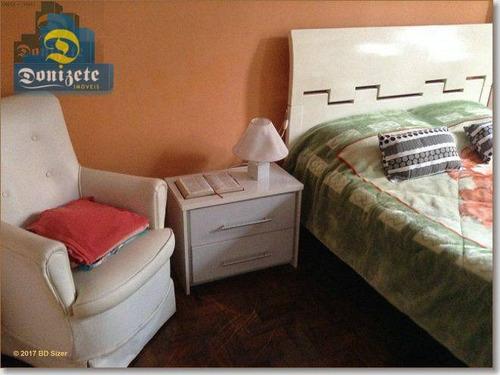 apartamento com 2 dormitórios à venda, 67 m² por r$ 285.000 - campestre - santo andré/sp - ap0376