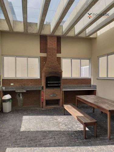 apartamento com 2 dormitórios à venda, 68 m² por r$ 360.000,00 - jardim santo antônio - santo andré/sp - ap0698